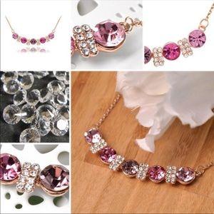 ONE LEFT Purple Swarovski Crystal necklace